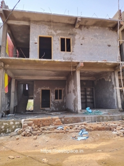 133 Sq Yards East Facing Independent G+1 house for sale at Green City Colony, Hayathnagar
