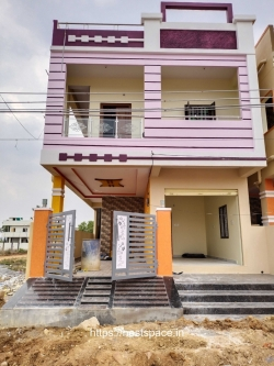 120 Sq Yards North facing semi-commercial Independent G+1 house for sale 73L at Sadana Enclave, Kuntloor