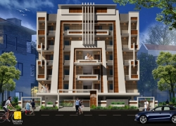 3BHK north facing luxury flat of 2310 SFT for sale at DRDL Colony, Agriculture Colony, Hastinapuram