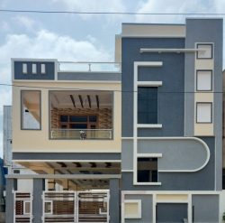 167 Square Yards west facing Residential G+1 house for sale at Telephone Colony, Buddha Nagar, Uppal