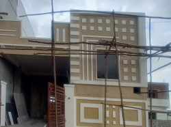 100 Square Yards west facing Individual G+1 house for sale at Narepally
