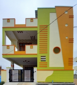 135 Square Yards west facing residential 4BHK house for sale at Chengicherla, Akshaya Encleave