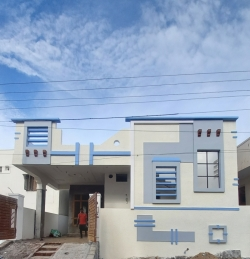 143 Square Yards west facing independent 2BHK under construction house for sale at Shah Guda, Hyderabad