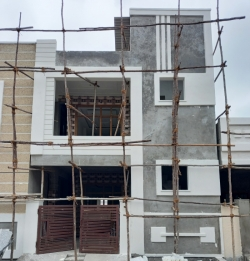 150 Square Yards west facing residential 4BHK under construction house for sale at Gandamguda
