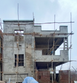 155 Square Yards east facing residential 4BHK under construction house for sale at Shan Guda