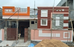 155 Square Yards west facing residential 2BHK under construction house for sale at Shan Guda