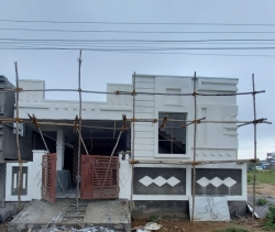 200 Square Yards west facing 2BHK under construction residential house for sale at Badangpet