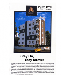 2BHK east facing flat of 1165 SFT for sale at Manneguda, Turkayamjal, Hyderabad.