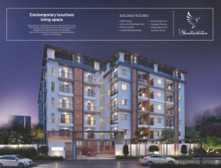 2BHK west facing flat of 1290 SFT for sale at Manneguda, Turkayamjal, Hyderabad.